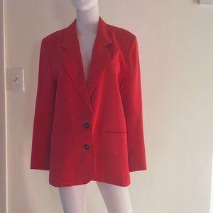 Jackets & Blazers - VTG Funchia Red 80's Blazer • M